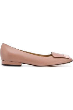 Sergio Rossi SR1 ballerina shoes - Neutrals