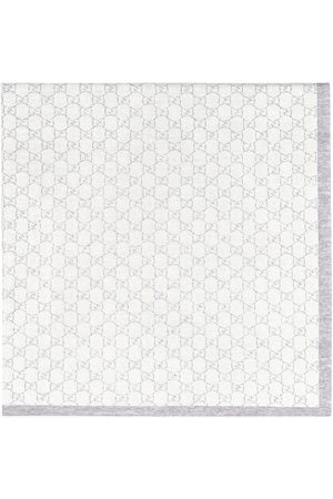 Gucci Kids Baby Changing Bags - GG pattern wool baby blanket - Grey