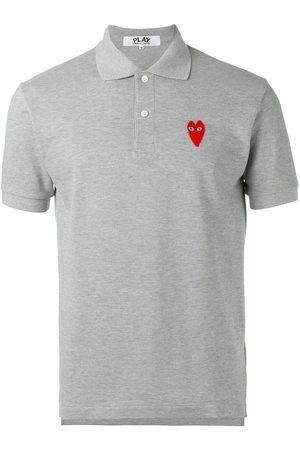 Comme des Garçons Elongated heart polo shirt - Grey