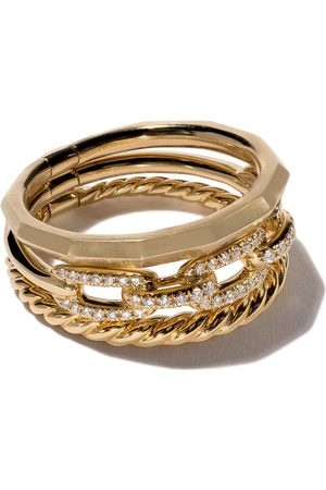 David Yurman Women Bracelets - 18kt yellow gold Stax diamond narrow ring - 88ADI