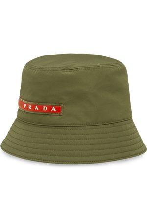 Prada Logo patch bucket hat