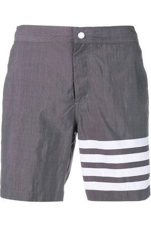 Thom Browne Men Swim Shorts - 4-bar Solid Tech Swim Short - Grey