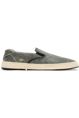 OSKLEN Men Flat Shoes - Leather slip on sneakers - Grey