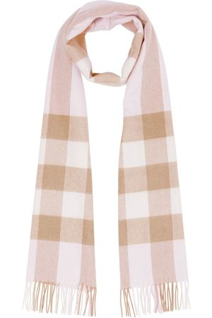 Burberry Scarves - Check pattern cashmere scarf - Neutrals