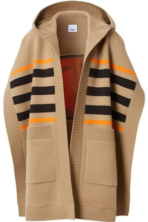 Burberry Monogram motif intarsia cape - Neutrals