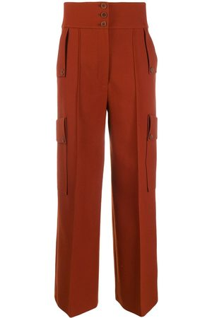 Stella McCartney Women Wide Leg Pants - High-waisted wide-leg trousers
