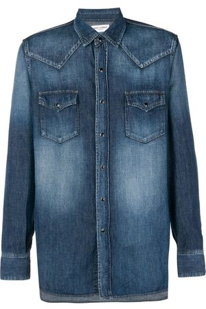 Saint Laurent Faded Western denim shirt
