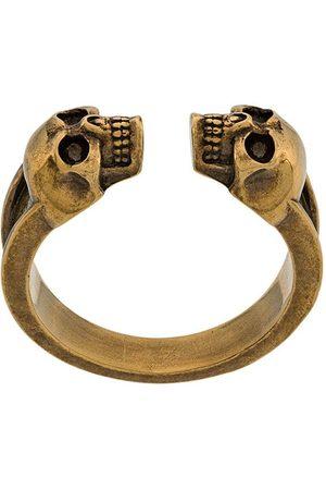 Alexander McQueen Skull engraved ring