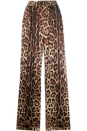 Dolce & Gabbana Leopard-print straight trousers - Neutrals