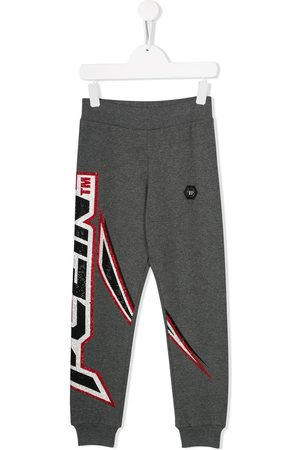 Philipp Plein Space Plein track trousers - Grey