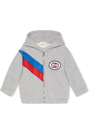 Gucci Ribbon zip-up hoodie - Grey
