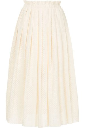 Onefifteen Women Midi Skirts - Knitted midi skirt - Neutrals