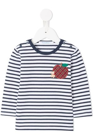 Familiar Apple patch striped T-shirt