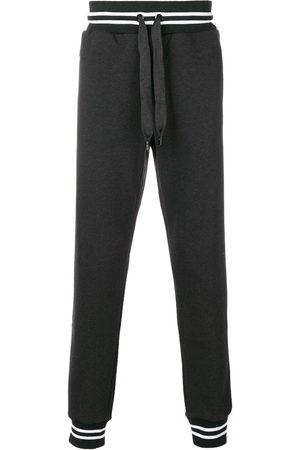 Dolce & Gabbana Men Sweatpants - Elasticated cuff jogging bottoms - Grey