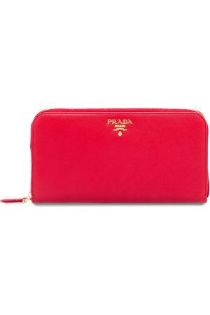 Prada Logo-plaque zip-around wallet
