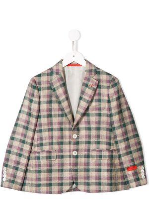ISAIA Boys Blazers - Slim-fit plaid blazer - Neutrals