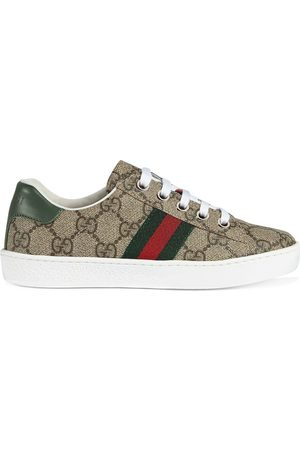 Gucci GG Supreme low-top sneakers - NEUTRALS