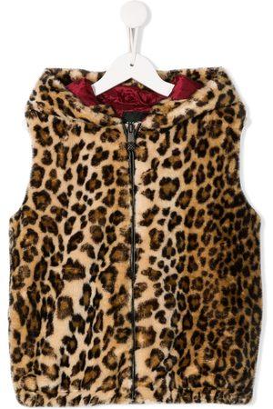 John Richmond Junior Girls Gilets - Leopard print gilet