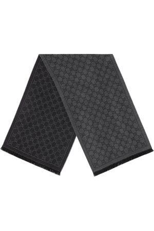 Gucci GG jacquard pattern knit scarf - Grey