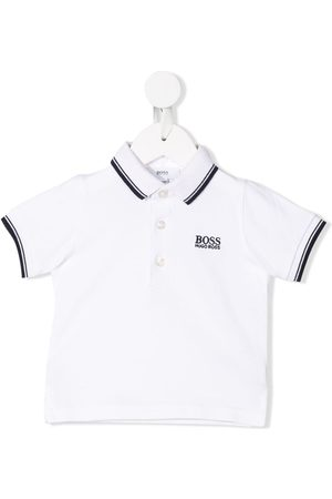 HUGO BOSS Striped trim polo shirt