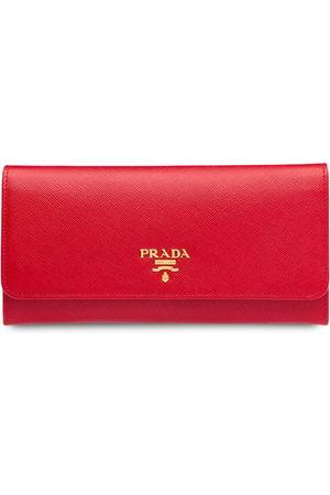 Prada Logo-plaque continental wallet
