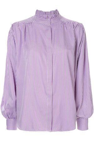 Bambah Women Blouses - Pleated detail pinstripe blouse
