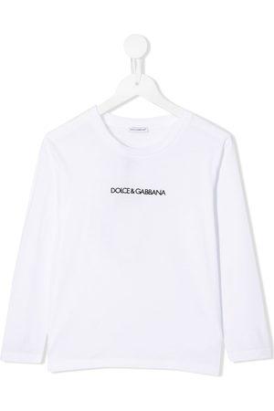 Dolce & Gabbana Boys Long Sleeve - Logo print long sleeve top