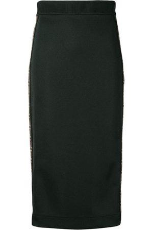 Fendi Double F-stripe fitted skirt