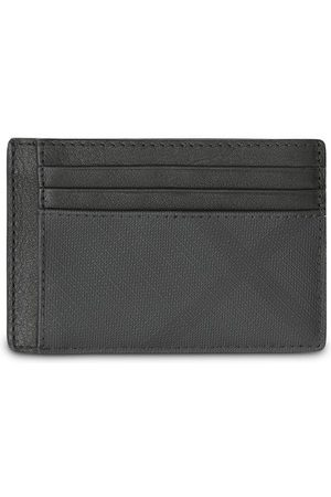 Burberry London Check and Leather Money Clip Card Case - Grey