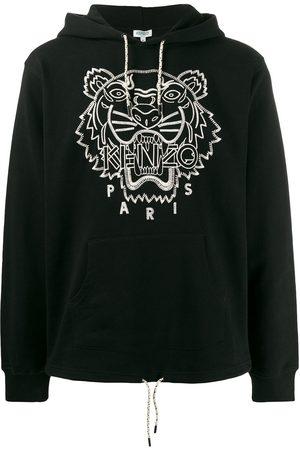 Kenzo Men Hoodies - Tiger embroidered hoodie
