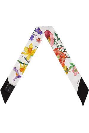 Gucci Flora print neck bow