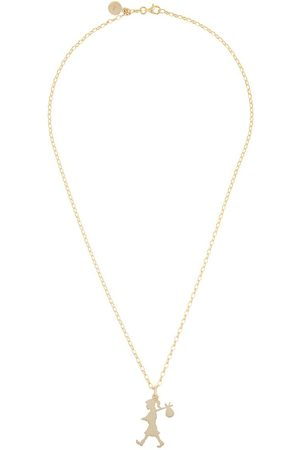 Karen Walker 9kt large Runaway Girl pendant necklace - Metallic
