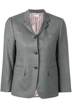Thom Browne Single-breasted twill blazer - Grey