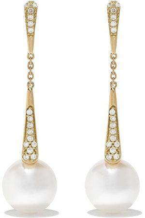 Yoko London Women Earrings - 18kt yellow gold Trend diamond and pearl drop earrings - 6