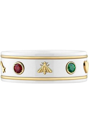 Gucci Rings - 18kt yellow gold Icon gemstone ring - 8521
