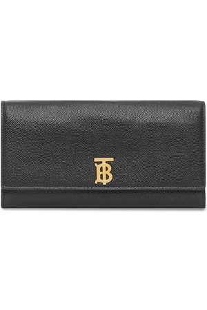 Burberry Women Wallets - Monogram Motif Grainy Leather Continental Wallet