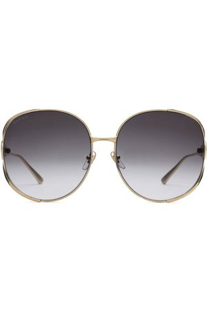 Gucci Round-frame metal sunglasses - Metallic