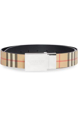 Burberry Men Belts - Vintage Check belt - Neutrals