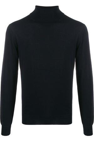 DELL'OGLIO Ribbed roll-neck jumper - Grey