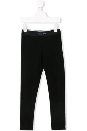 Dolce & Gabbana Girls Leggings - Logo waistband leggings