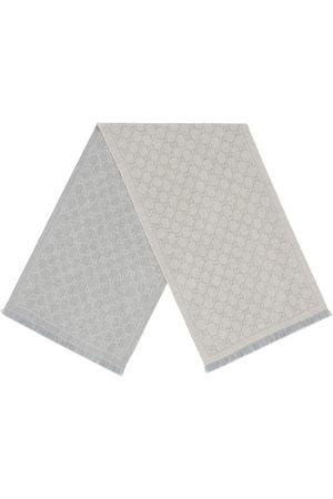 Gucci Scarves - GG jacquard knit scarf - Grey