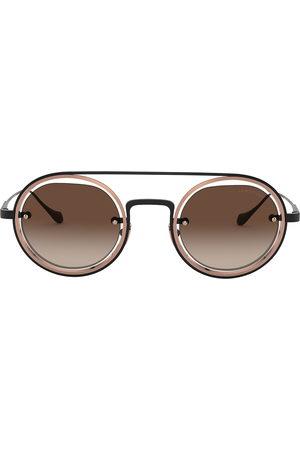 Armani Round aviator-frame sunglasses