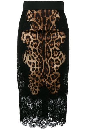 Dolce & Gabbana Leopard-print pencil skirt