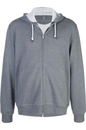 Brunello Cucinelli Men Hoodies - Zipped hoodie - Grey