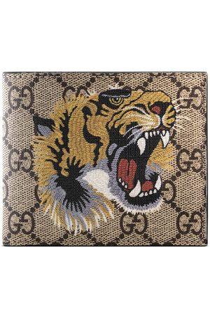 Gucci Tiger print GG Supreme wallet - Neutrals