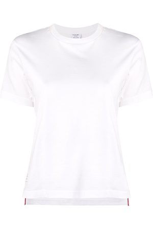 Thom Browne Women Short Sleeve - Logo-patch short-sleeve T-shirt
