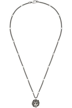 Gucci Necklace with lion head pendant - Metallic