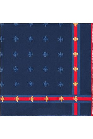 Gucci Men Pocket Squares - Bee pattern silk pocket square