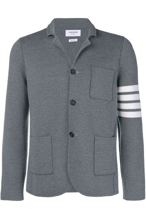 Thom Browne Men Coats - 4-Bar Milano Stitch Sport Coat - Grey