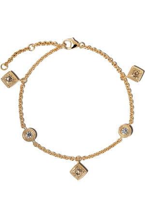 De Beers Jewellers 18kt Talisman diamond charm bracelet